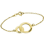 Interlocking Circles Bracelet - Gold Plated