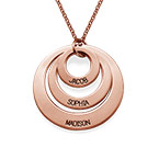 Jewellery for Mums - Three Disc Necklace with Rose Gold Plating