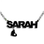 Stylish Colour Kids Name Necklace with Charm