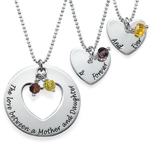 Love Between Mother & Daughters Necklace Set