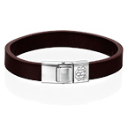 Men's Leather Bracelet with Monogram