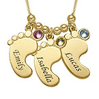 Mom jewellery - Baby Feet Necklace with Gold Plating