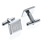 Monogrammed Cufflinks in Stainless Steel