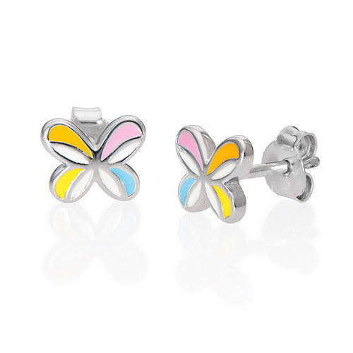 Multicolor Butterfly Wing Earrings for Kids