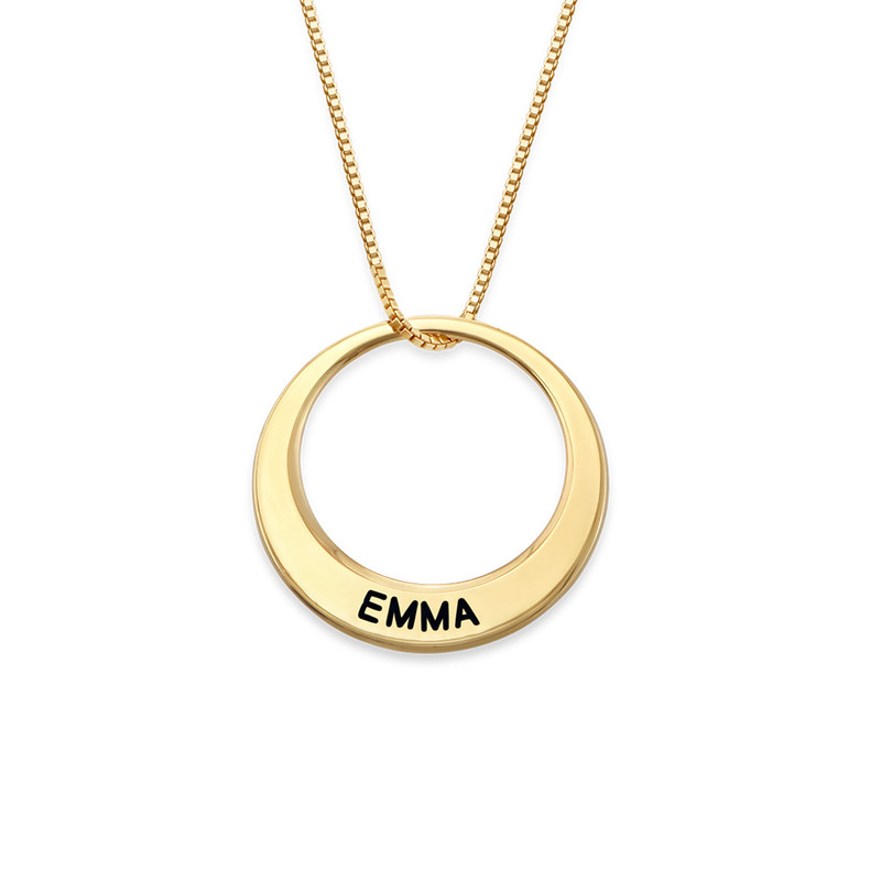 Multiple Ring Necklace in Gold Plating - 1