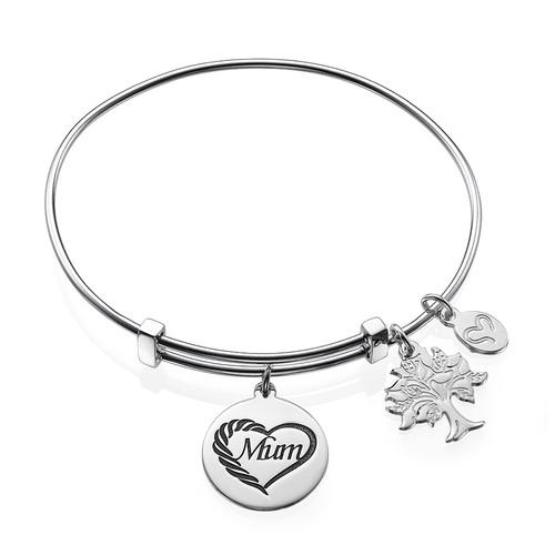 Mum Charm Bangle Bracelet