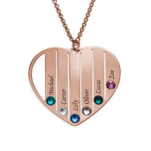 Mum Birthstone necklace in Rose Gold Plating