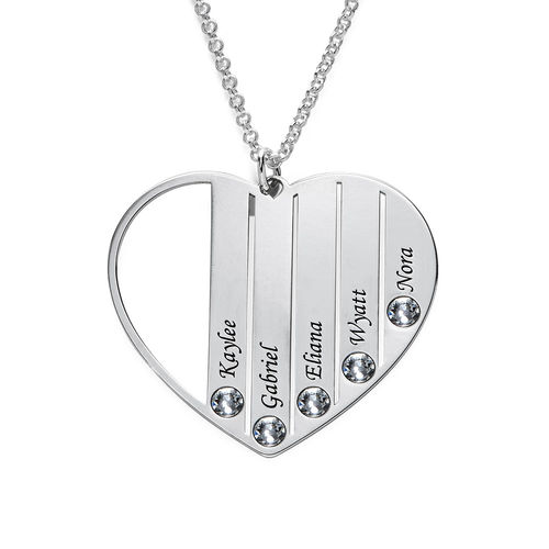 Mum Birthstone necklace in Silver Sterling - 2