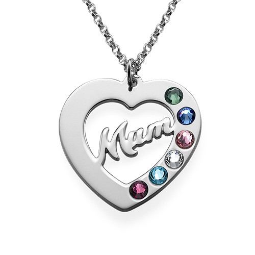 Mum Necklace with Birthstones - 1