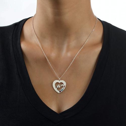 Mum Necklace with Birthstones - 2