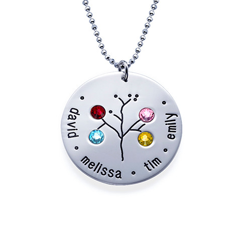 NEW Sterling Silver Family Tree Necklace - 4