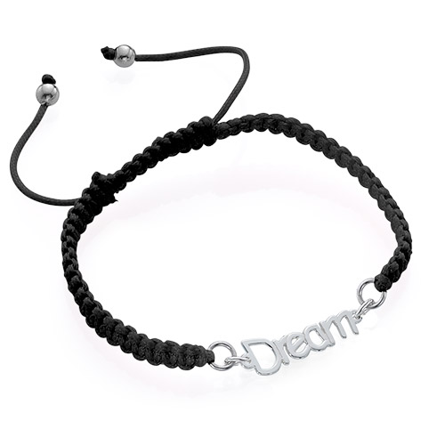 Name Bracelet on Cord - 2