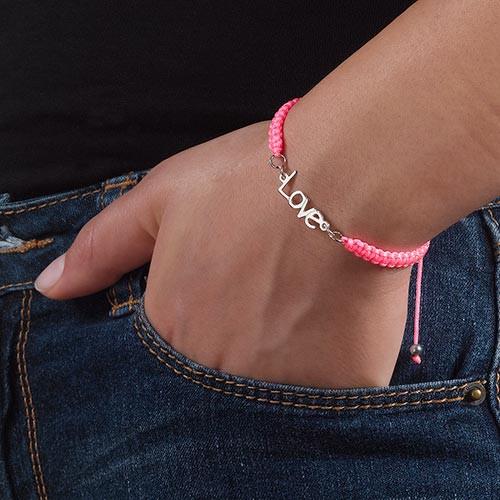 Name Bracelet on Cord - 4