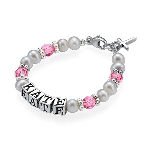 Personalised Baby Bracelet in Silver