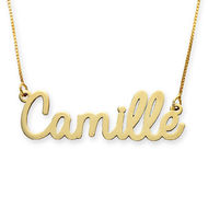 Personalised Cursive Name Necklace in 10ct Yellow Gold