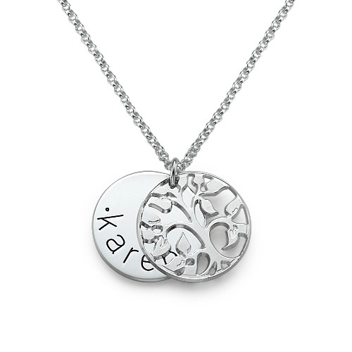 Personalised Family Necklace in Silver