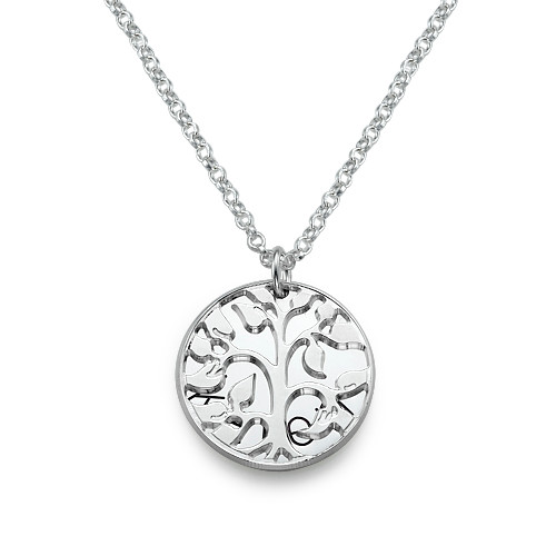 Personalised Family Necklace in Silver - 1