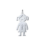 Personalised Girl Charm - Silver