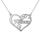 Personalised Heart Name Necklace