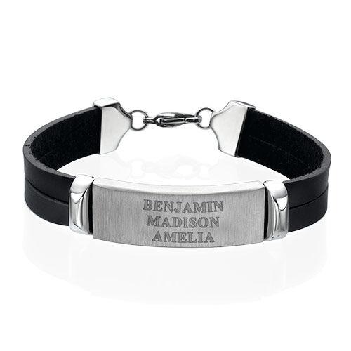 Personalised Leather Bracelet for Men