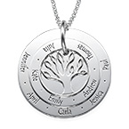Personalised Mum Jewellery - Family Tree Necklace