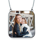 Personalised Photo Necklace - Square Shaped