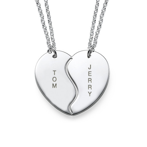 Personalised Silver BFF Necklaces - 3