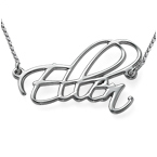 Personalised Silver Script Necklace