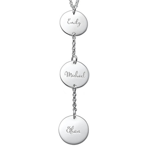 Personalised Y Necklace in Sterling Silver