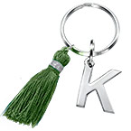 Personalised Keyring with Initial and Tassel