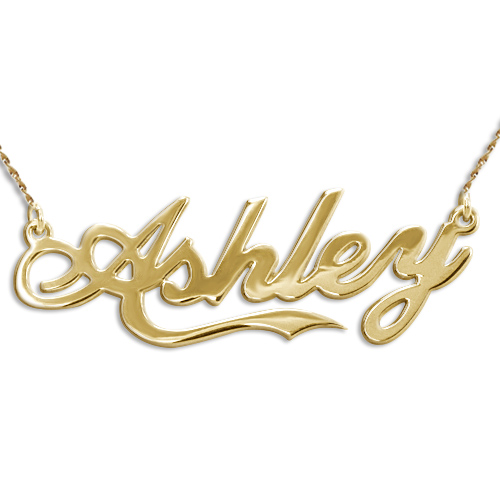 "14ct Yellow Gold ""Coca Cola"" Font Name Necklace"