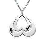 Personalised Double Heart Necklace