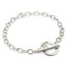 Personalised Sterling Silver T-Bar Bracelet