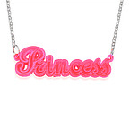 Pink Name Necklace for Kids