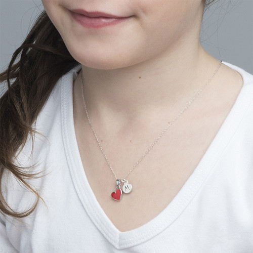 Red Heart Necklace for Kids - 2