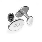 Rhodium Plated Personalised Cufflink