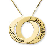 Russian Ring Necklace with 2 Rings in 10ct Yellow Gold