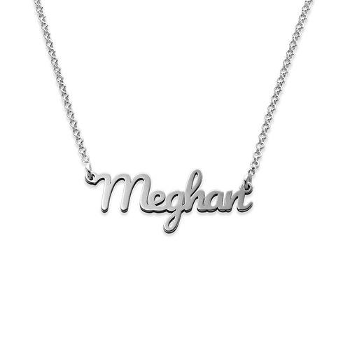 Script Name Necklace in Sterling Silver