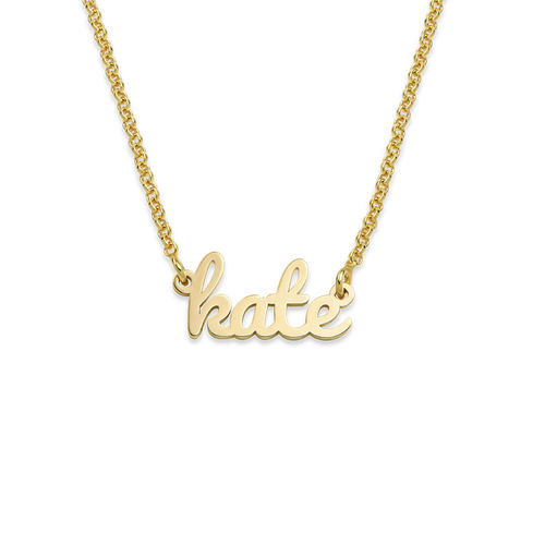 Script Name Necklace with 18ct Gold Plating