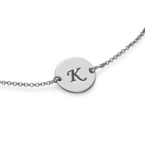 Silver Initial Bracelet - 1