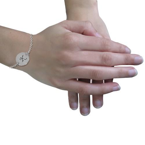 Silver Initial Bracelet - 2