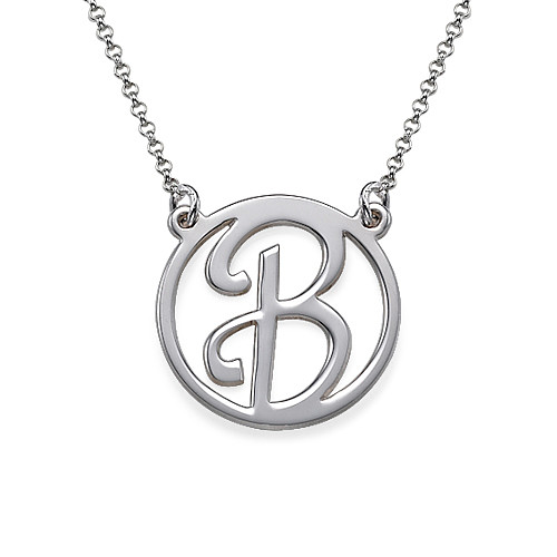 Silver Initial Pendant
