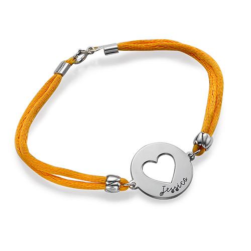Silver Personalised Heart Bracelet