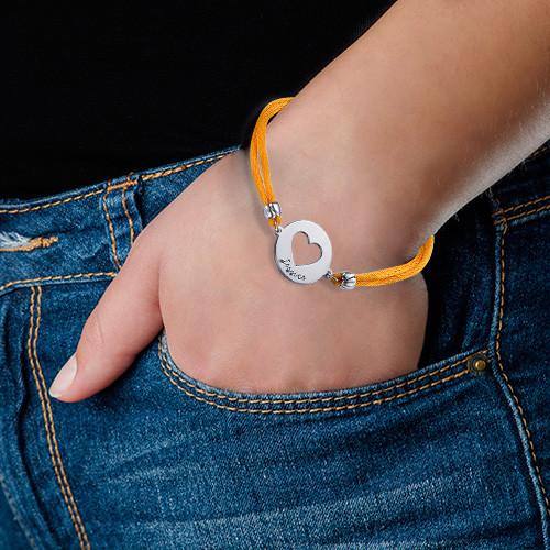 Silver Personalised Heart Bracelet - 1