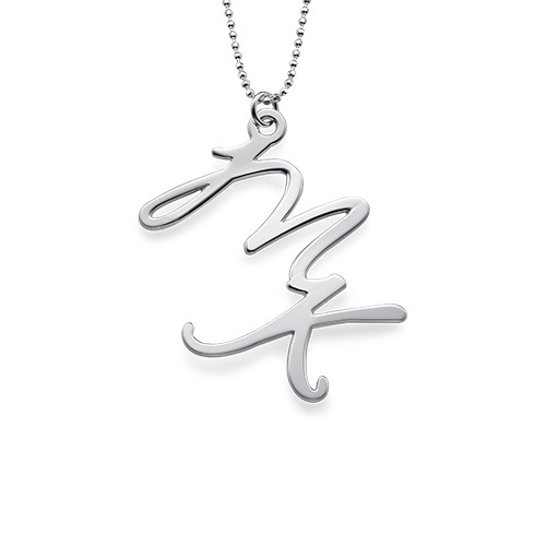 Two Initial Necklace in Sterling Silver