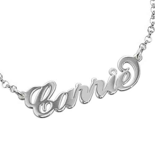 Silver and Crystal Name Bracelet
