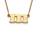 Small Initial Necklace in 18ct Gold Plating