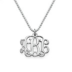 Small Silver Monogram Necklace