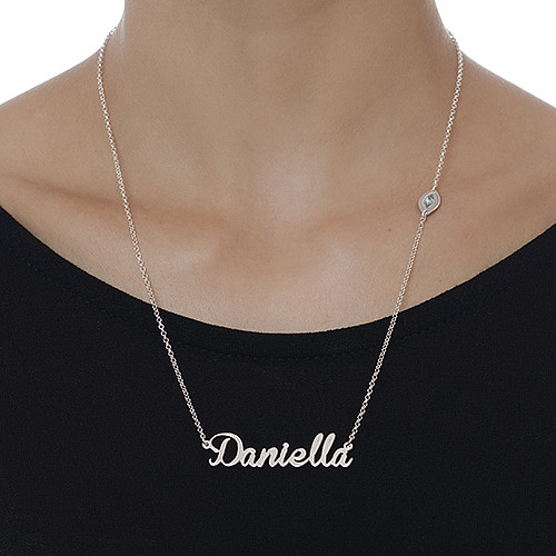 Sterling Silver Charm Name Necklace - 2