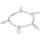 Sterling Silver Engraved Mothers Day Bracelet